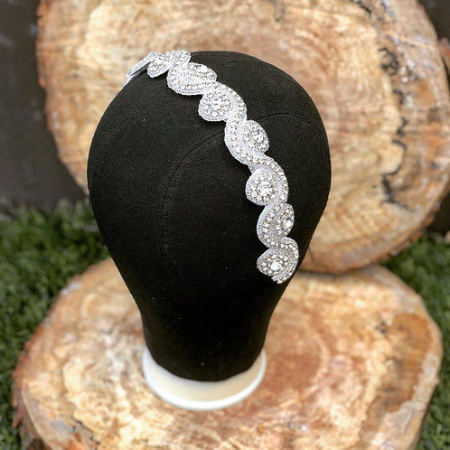 Swirl wedding headband