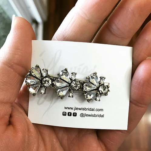Small Gold Base Hair Clip for Bridesmaids or Every Day Look