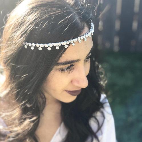 Dropped rhinestones wedding headband