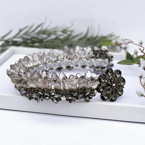 Black Wedding Tiara Headpiece