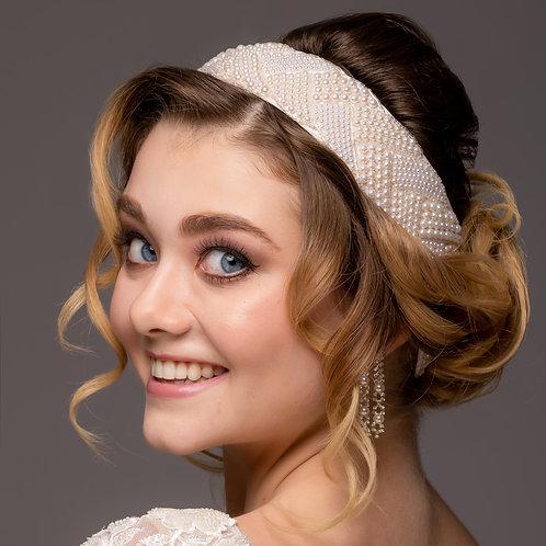 Ivory Tie-Back Wedding Headband