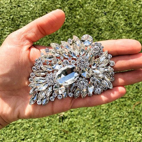 Rhinestone/Crystal Teardrop Hair Clip
