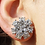 Thumbnail: Rhinestone Stud Earrings