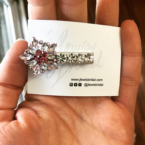 Small Light Pink Hair Clip for Bridesmaids or Every Day Look
