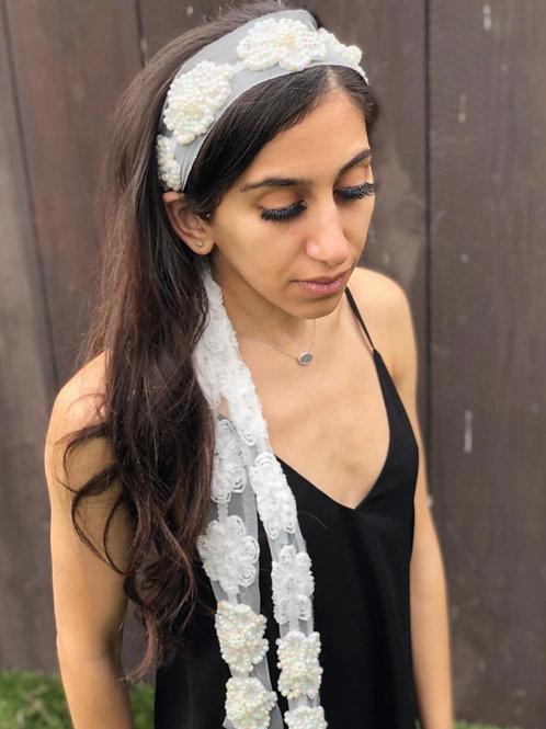 Boho floral lace headband