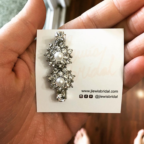 Small Flower Hair Clip for Bridesmaids or Every Day Look