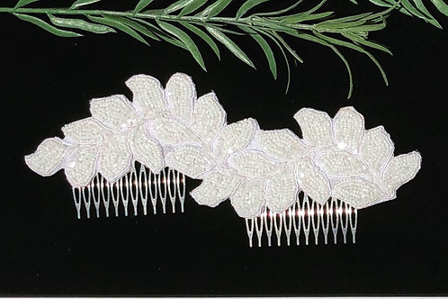 Beaded Double Hair Comb