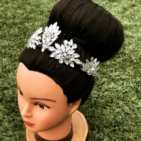 Glass Rhinestone Hair Tiara Headpiece