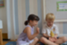 Children playing in nursery school