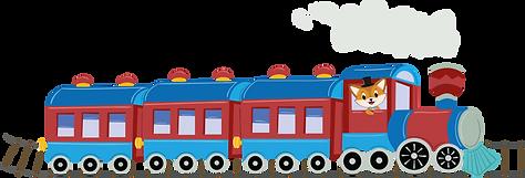Phileas Fox character in a train