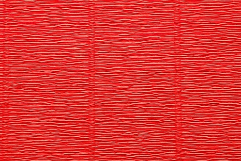 Crepe Paper Roll #618, Italian 180g Deep Orange Red