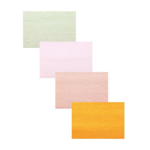 Premium Set - 4 pcs of Italian Crepe Paper Rolls, 180 g, Ranunculus Set
