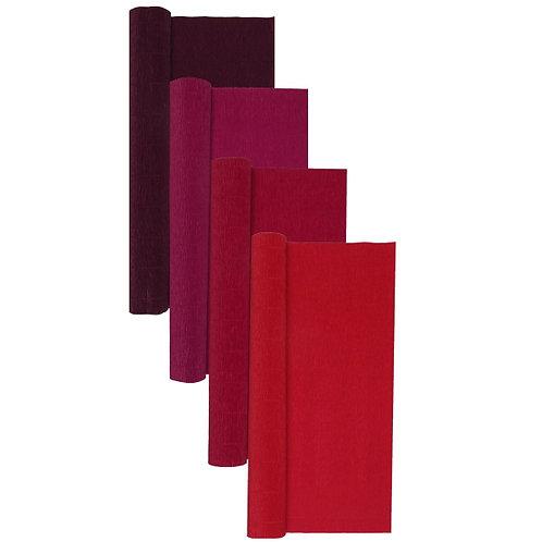 Premium Set - 4 pcs of Italian Crepe Paper Rolls, 180 g, Red Wines
