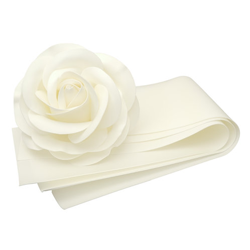 "Craft Foam, 3 Strips 14"" x 39"" (36 cm x 100 cm), Thickness 0.078"" (2 mm), White"