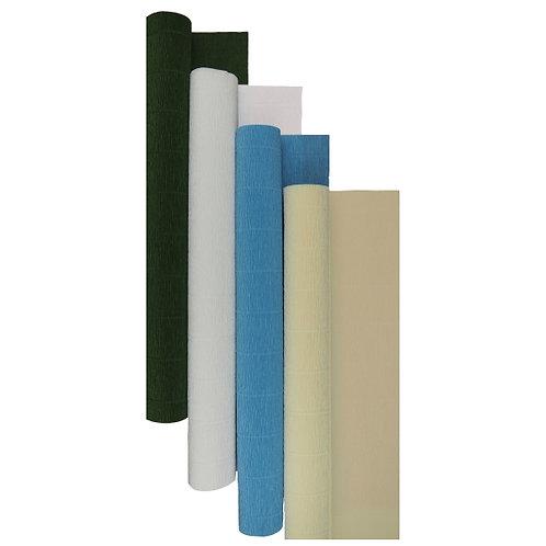 Premium Set - 4 pcs of Italian Crepe Paper Rolls, 180 g, Ivory Iris
