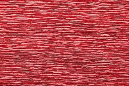 Crepe Paper Roll, Italian 180g Metalized Bicolor Red