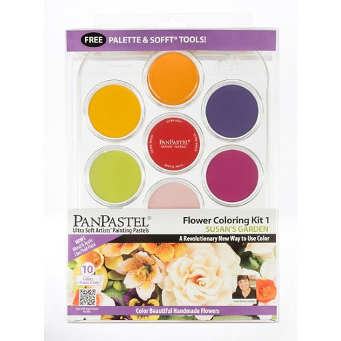 PanPastel 10 Colour Flower Coloring Kit - Susan's Garden