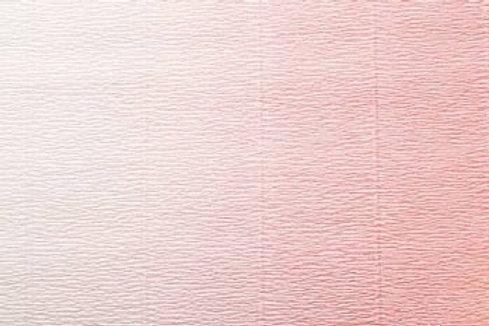 Crepe Paper Roll #600/4, Italian 180g White-Pink Gradient
