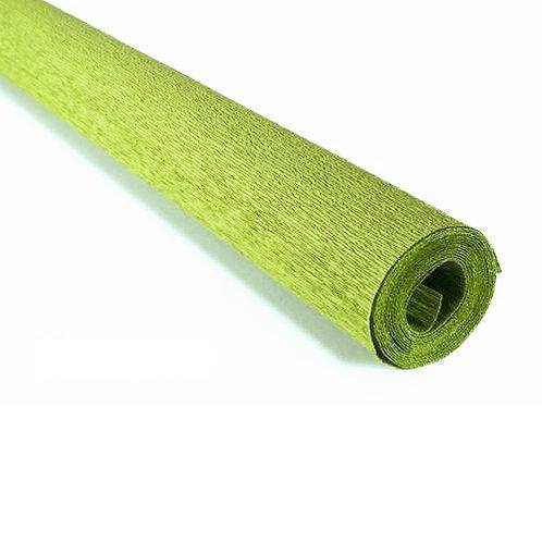 Crepe Paper Roll #396, Italian 90 gram Apple Green