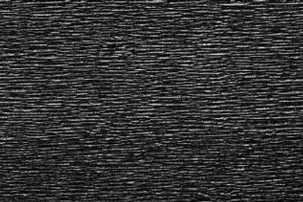 Crepe Paper Roll, Italian 180g Metalized Black