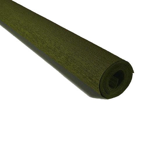 Crepe Paper Roll #388, Italian 90 gram Grey Green