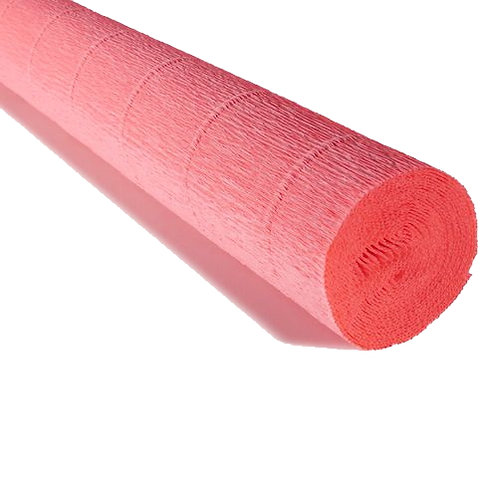Crepe Paper Roll #601, Italian 180g Coral Camacino Pink