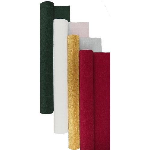 Premium Set - 4 pcs of Italian Crepe Paper Rolls, 180 g, Gold Berry Pine