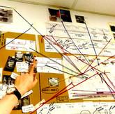 Conspiracy walls: Mapping design data -2