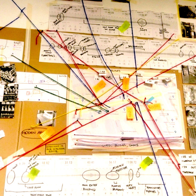 Conspiracy walls: Mapping design data -1