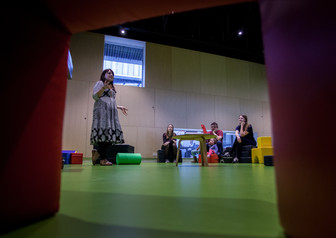 Conducting a play workshop in Denmark (2016)
