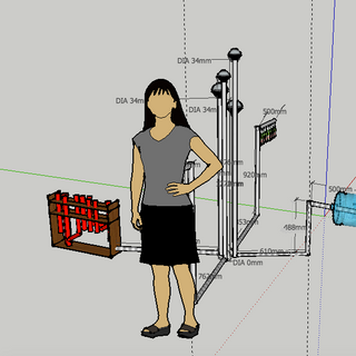 3D conceptualisation of the installation - 1