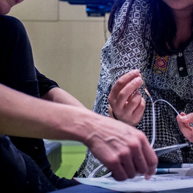 Designing circuits using conductve tape