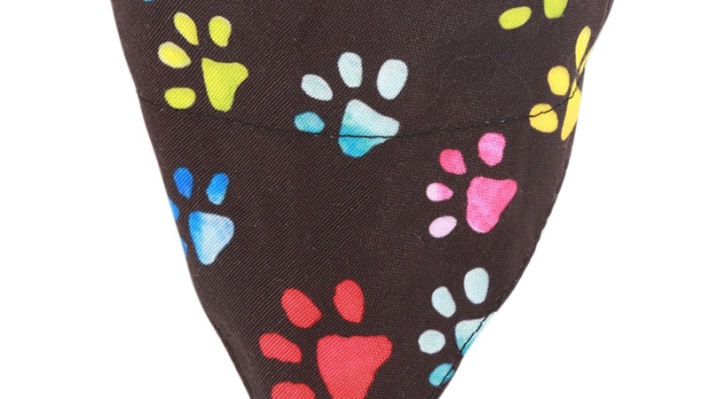 Black Paw Print Pet Bandana