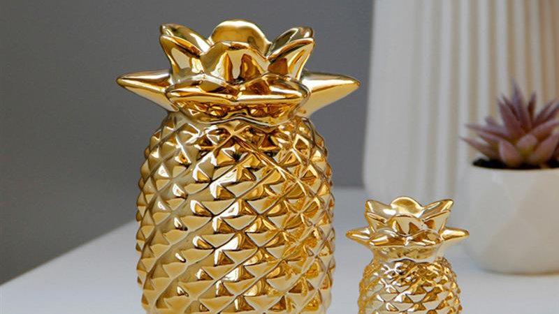 Golden Pineapple Desktop Ornament