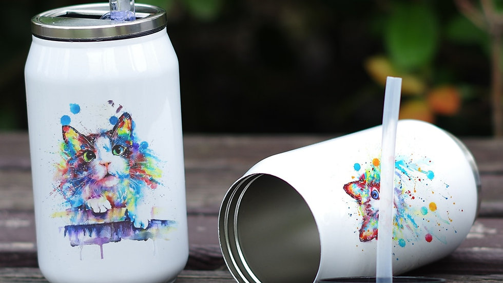 Insulated Cat Print Cup