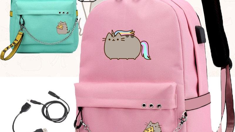 Cute Fat Cat Backpacks