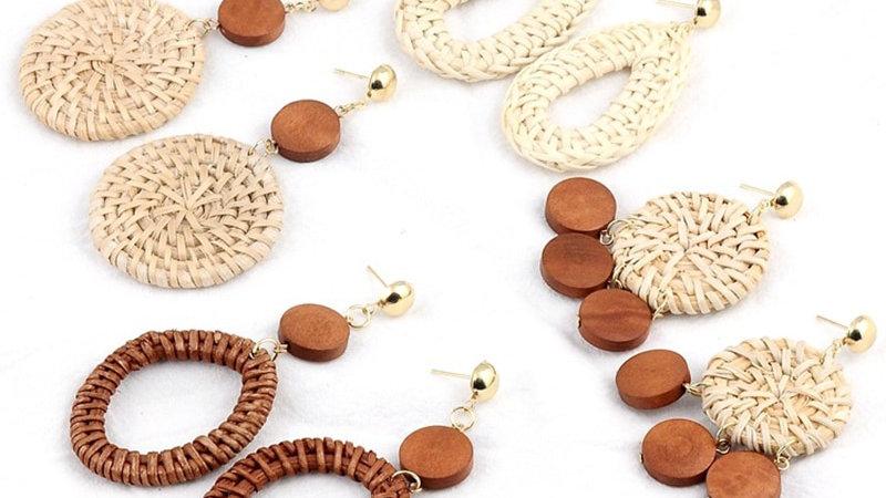 Handmade Rattan Earrings