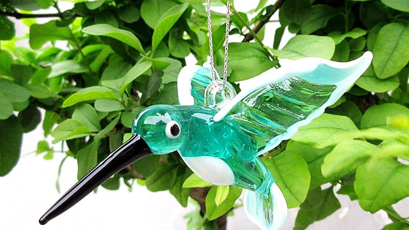 Glass Bird Ornaments
