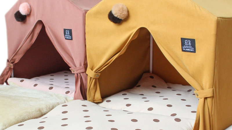 Pleated Curtain Pet Tent