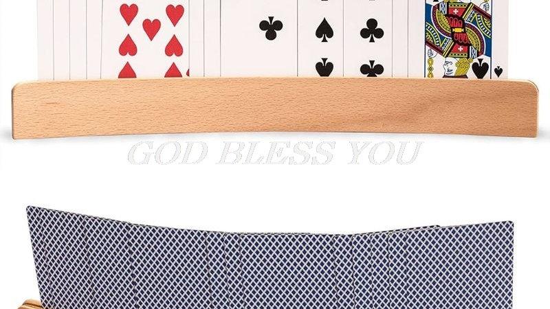Wooden Hands-Free Card Holder