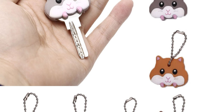 Silicone Key Ring Cap Head Cover