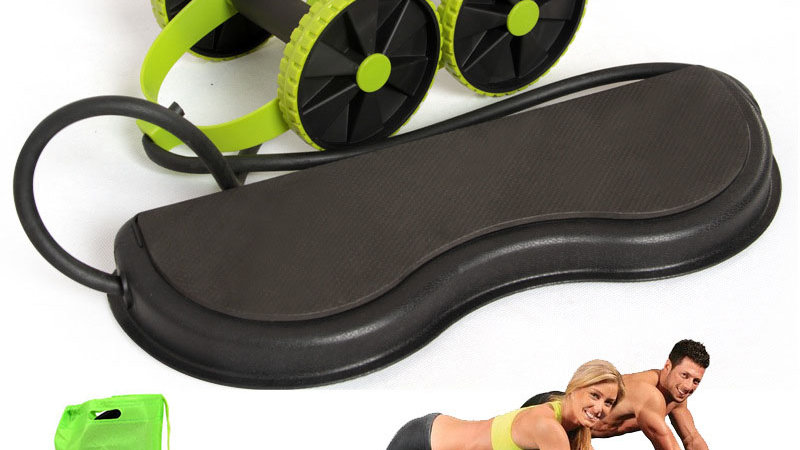 AB Wheels Abdominal Roller Resistance Bands Exercise at Home