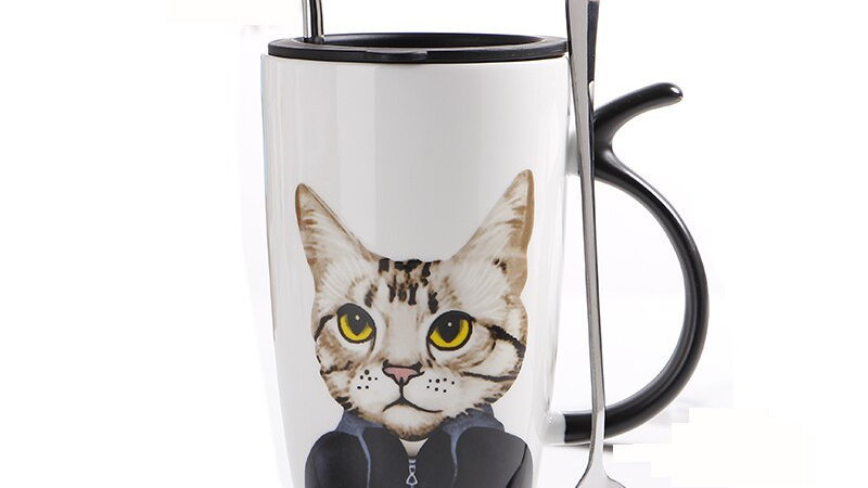 Ceramic Kitty Coffee Cup