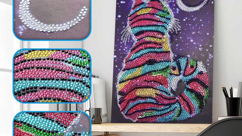 Cat and Moon Diamond Painting Kit