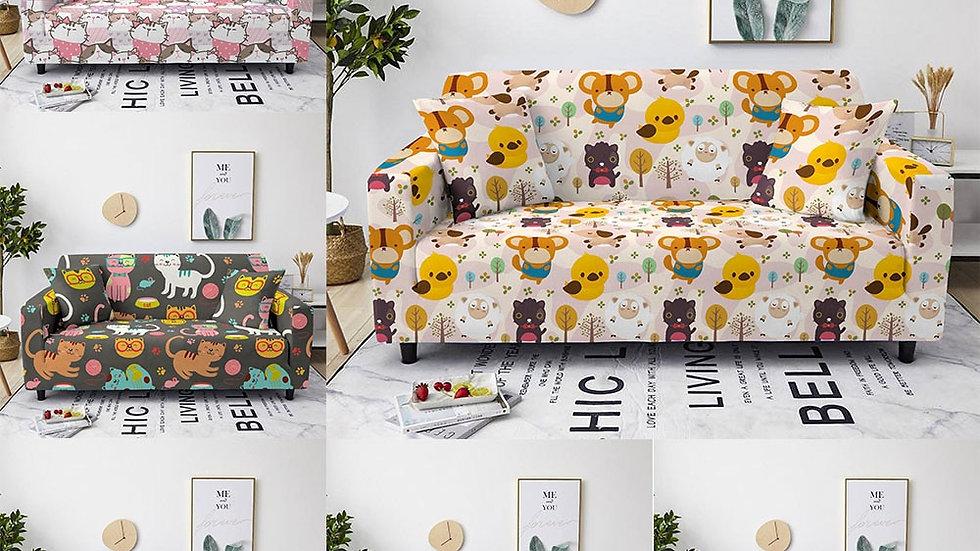 Cartoon Animal Sofa Seat Cover