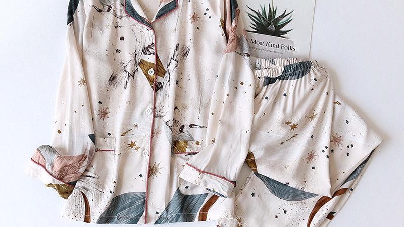 Long Sleeved Cotton Pyjamas