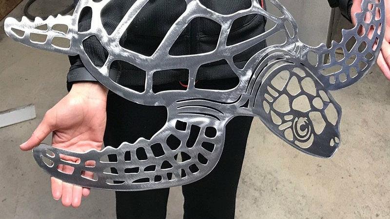 Metal Sea Turtle Ornament