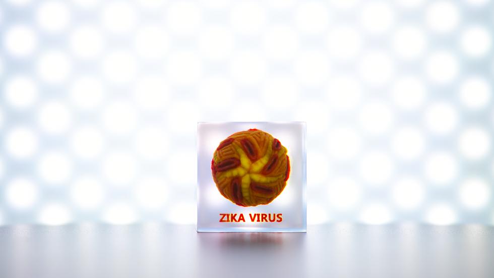 Single 3D Cube Zika Virus