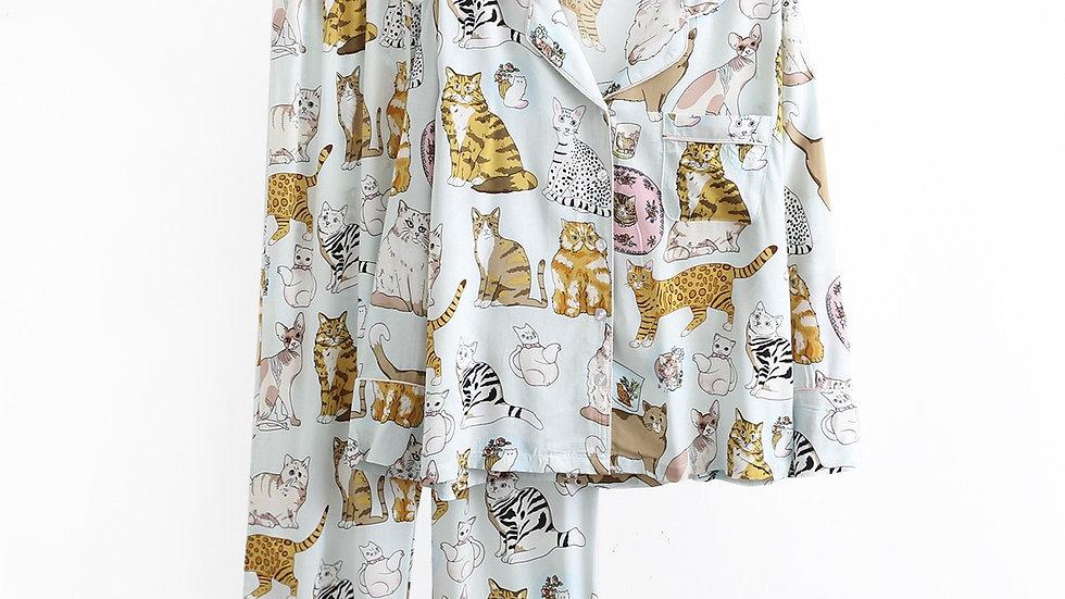 Women's Cat Pyjama Set