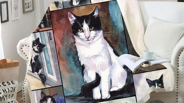 Cat Print Fleecy Blankets